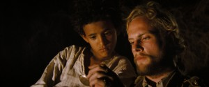 THEEB_49_Jacir Eid as Theeb, Jack Fox as Edward_TheebAndEdwardWithWatch